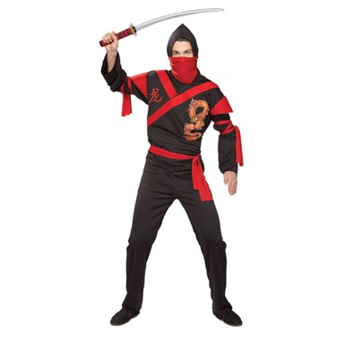 Mens Ninja Warrior Costume - Dragon Ninja