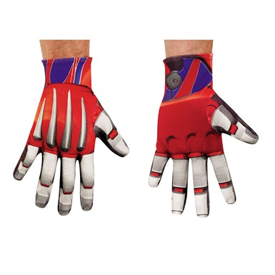 Mens Optimus Prime Transformers Halloween Gloves