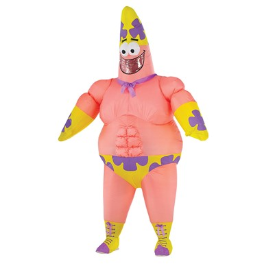Mens Patrick Star Inflatable Mr. Awesomeness Standard Costume