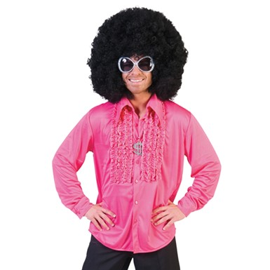 Mens Pink Saturday Night Disco Shirt Halloween Costume