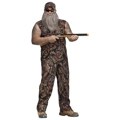 Mens Plus Size Duck Hunter Halloween Costume