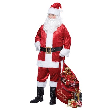 Mens Plus Size Santa Claus Suit Costume Plus Size 48-52