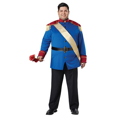 Mens Plus Size Storybook Prince Costume Size 48-52