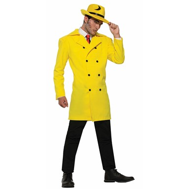 Mens Pop Art Gangster Yellow Jacket Costume