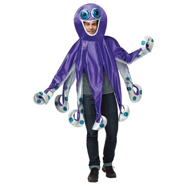 Mens Purple Octopus Costume