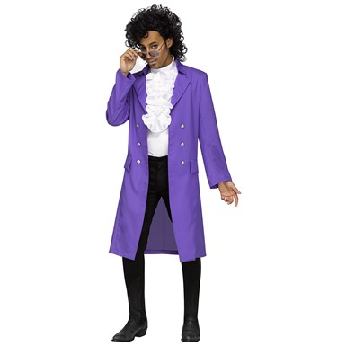 Mens Purple Pain Prince Plus Size Costume