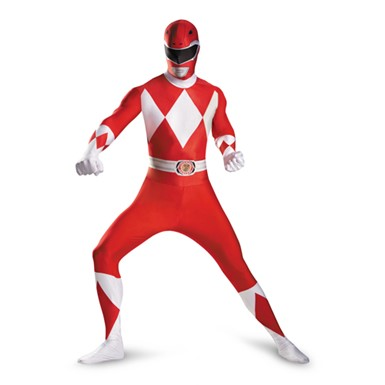 Mens Red Ranger Bodysuit Costume
