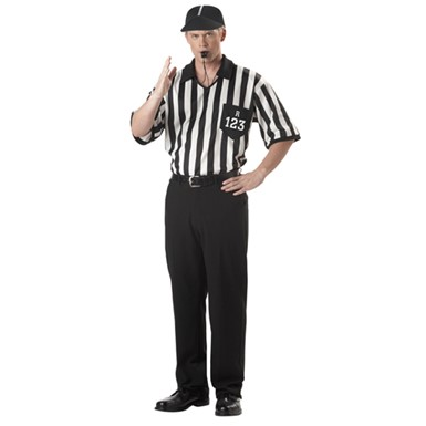 Mens Referee Costume - Shirt & Cap