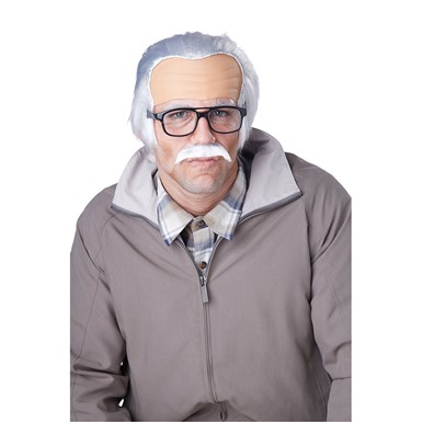 Mens Rude Grandpa Costume Wig