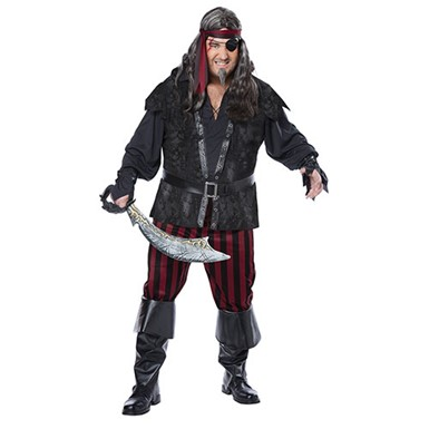 Mens Ruthless Rogue Halloween Costume Plus Size 48-52