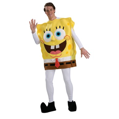 Mens Spongebob Costume - Deluxe Spongebob Squarepants
