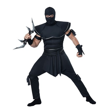 Mens Stealth Ninja Adult Halloween Costume