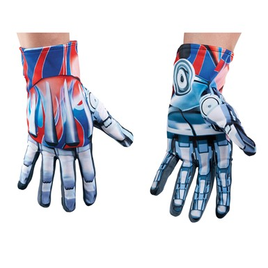 Mens Transformers Optimus Prime Costume Gloves