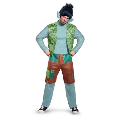 mens trolls branch deluxe costume with wig size standard