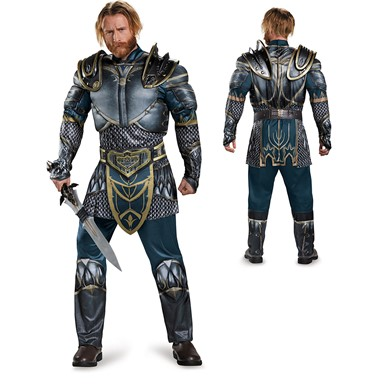 Mens Warcraft Classic Lothar Muscle Costume size 42-46 XL