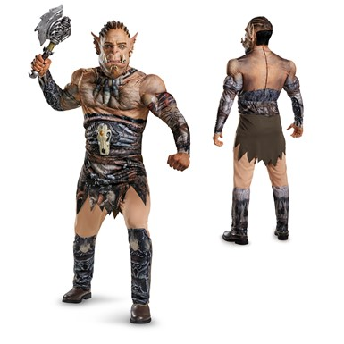 Mens Warcraft Deluxe Durotan Muscle Costume size 42-46 XL