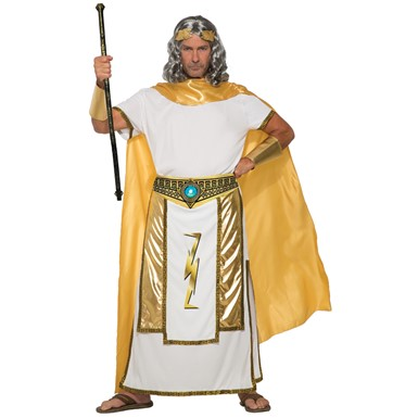 Mens Zeus Greek Mythology Halloween Costume