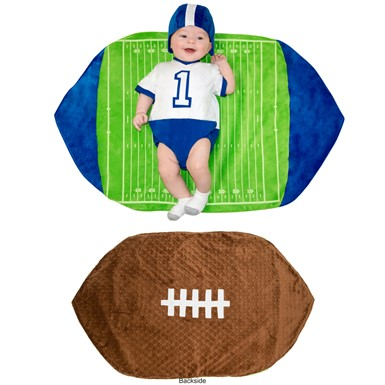 Newborn Swaddle Wings Football Costume size 0-3 Months