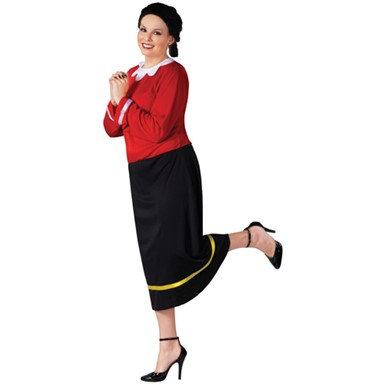 Olive Oyl Womens Adult Plus Size Halloween Costume 16-24