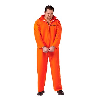 Orange Inmate Costume - Big & Tall
