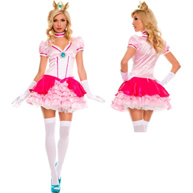 Peachy Princess Costume - Womens