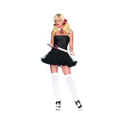 Petticoat Black Dress for Womens Sexy Costume