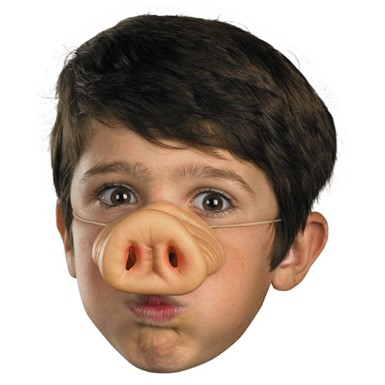 Pig Nose Facial Piece for Halloween Costume