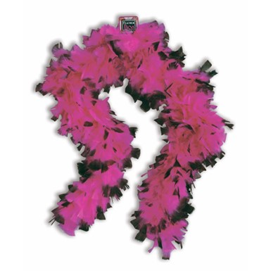 Pink and Black Boa
