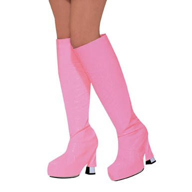 Pink Go Go Boot Tops Halloween Costume Accessory