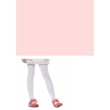 Pink Opaque Stockings for Child Costumes