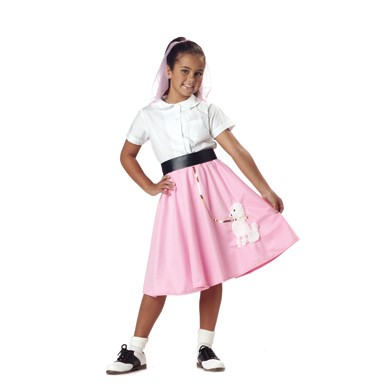 Pink Poodle Skirt Costume - Kids
