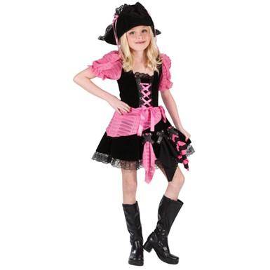 pink punk pirate girl child halloween costume - Halloween Punk Costume