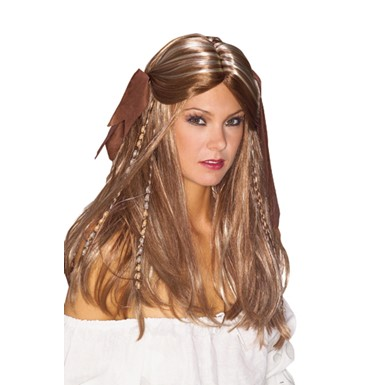 Pirate Wench Halloween Wig - Womens