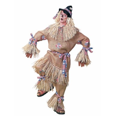 Plus Size Deluxe Scarecrow Adult Mens Costume