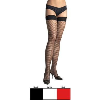 Plus Size Fishnet Stockings - Thigh Highs
