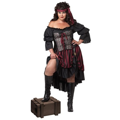 Plus Size Hot Pirate Wench Costume