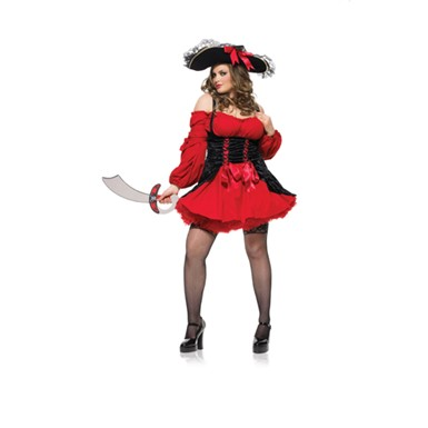 Plus Size Pirate Costume - Sexy Vixen Pirate Wench