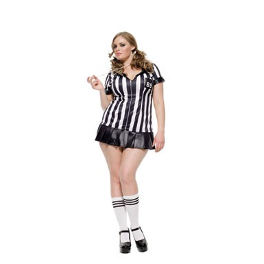 Plus Size Referee Costume - Sexy