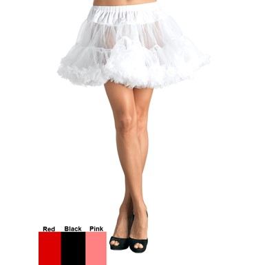 Plus Size Tulle Petticoat White Womens Costumes