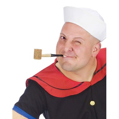 Popeye Corn Cob Pipe Sailor Pirate Redneck Accessory