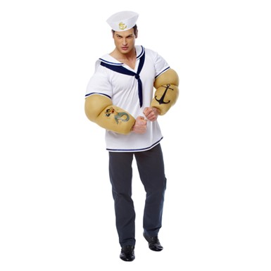 Popeye Sailor Shirt Mens Halloween Costume