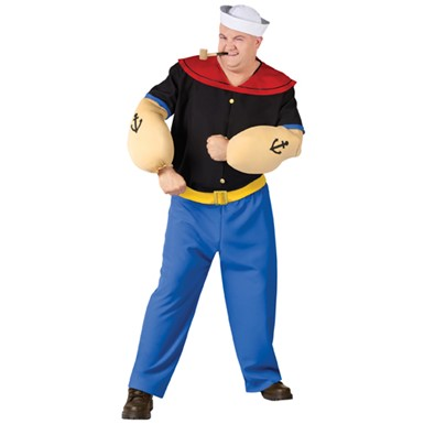 Popeye The Sailor Man Costume - Big & Tall