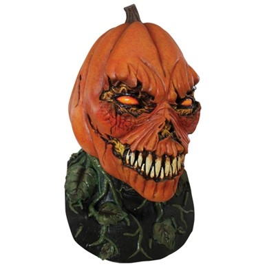 Possesed Pumpkin Scary Adult Mask for Horror Costume
