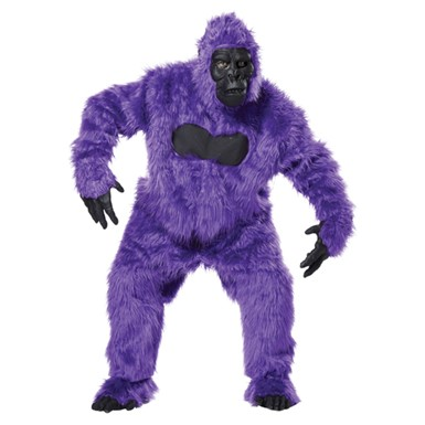 purple gorilla suit ape adult halloween costume