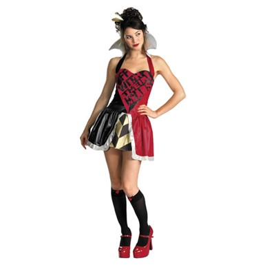 Queen of Hearts Womens Adult Sexy Halloween Costume