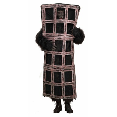 Realistic Gorilla in A Cage Mens Halloween Costume