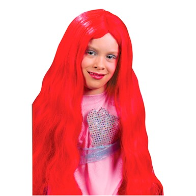 Red Mermaid Wig - Girls