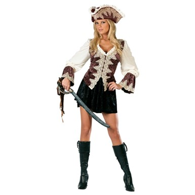 Royal Lady Pirate Adult Womens Halloween Costume