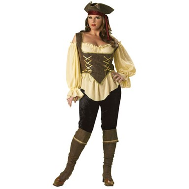 Rustic Pirate Lady Costume - Ultimate Collection Plus Size