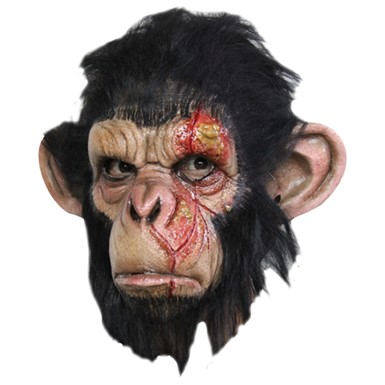 Scary Infected Chimp Animal Costume Mask